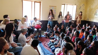 IBM Volunteers visit at Narsinghpur Centre